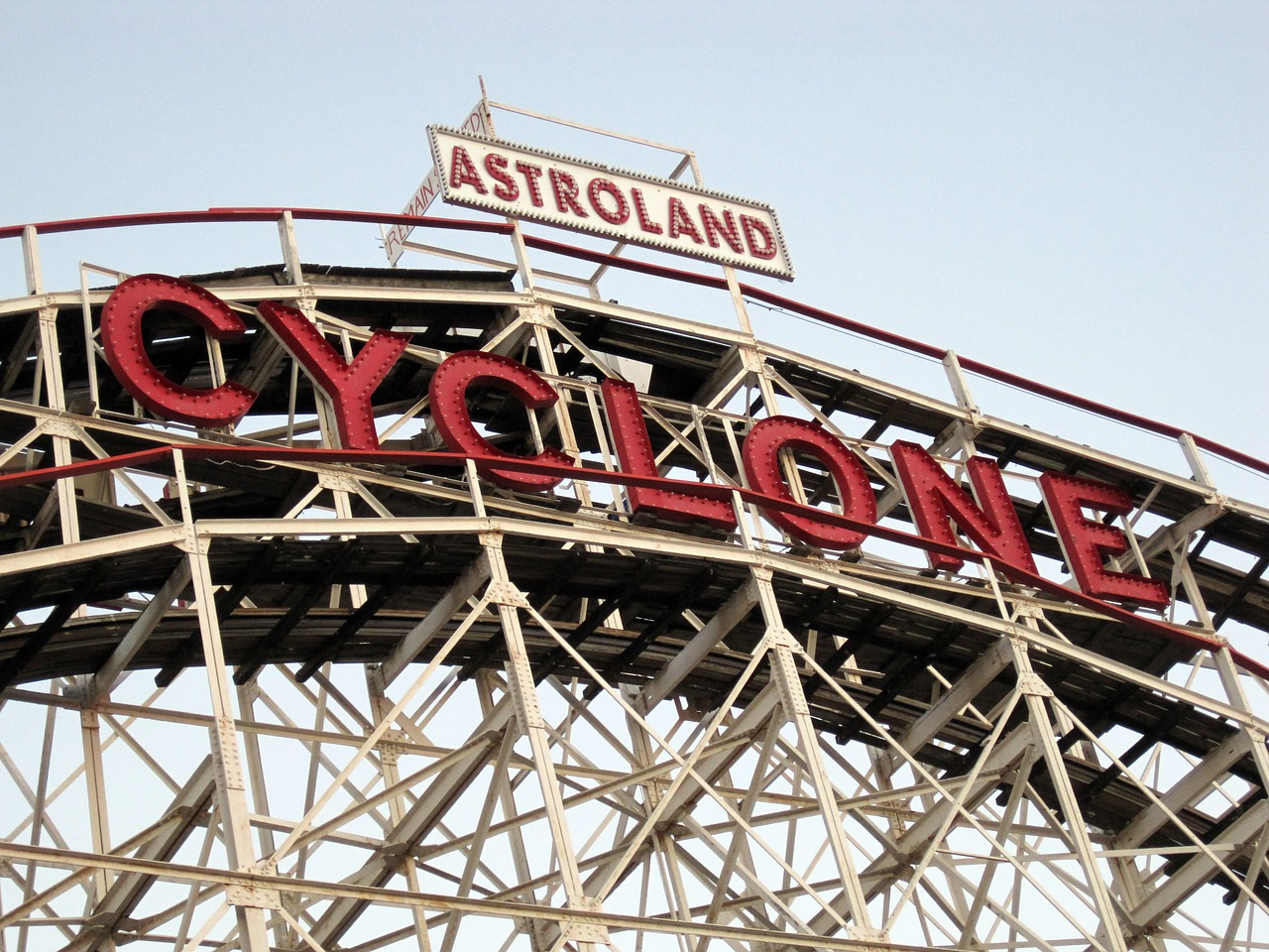coney island brooklyn roller coaster free photo
