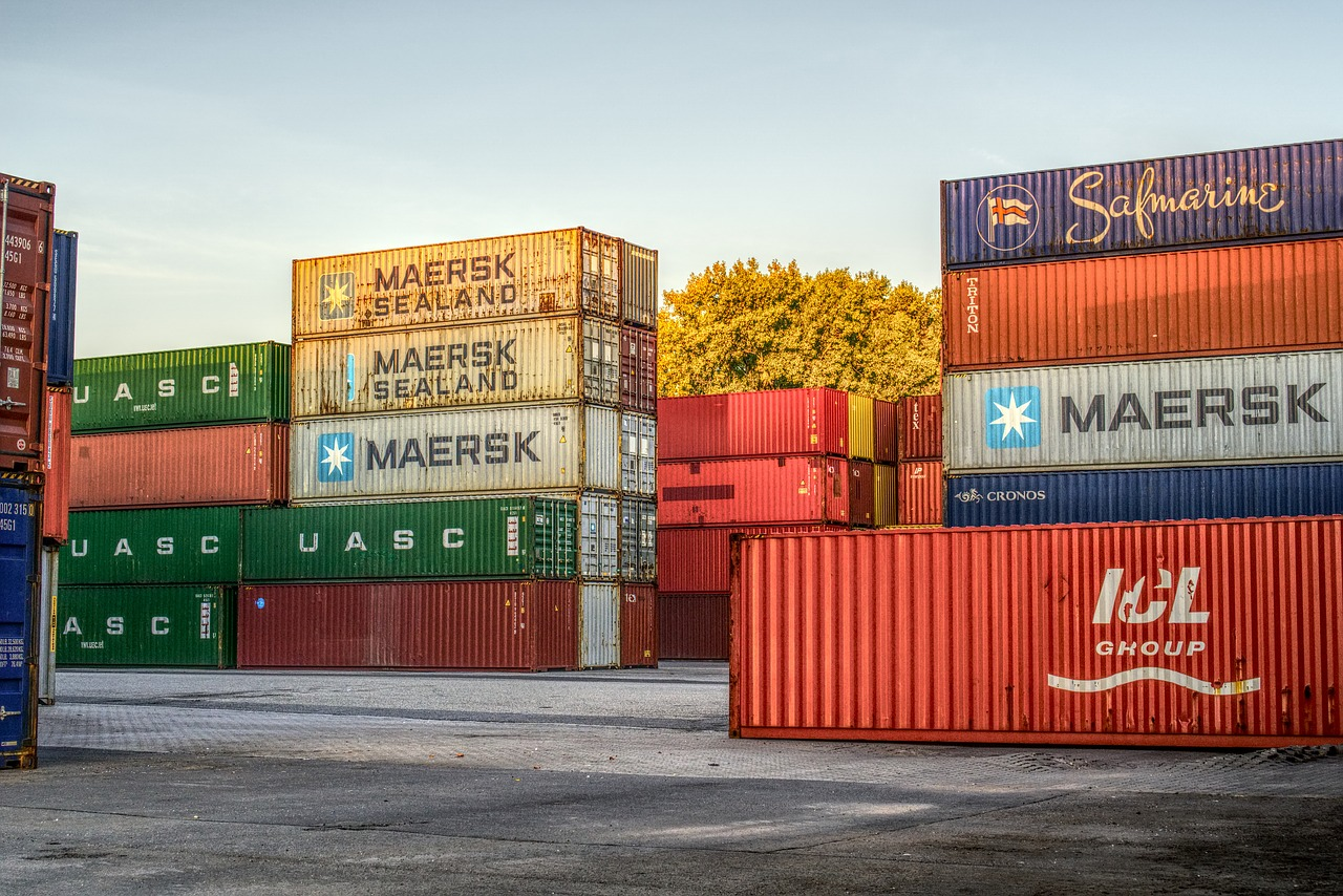 container  port  loading free photo