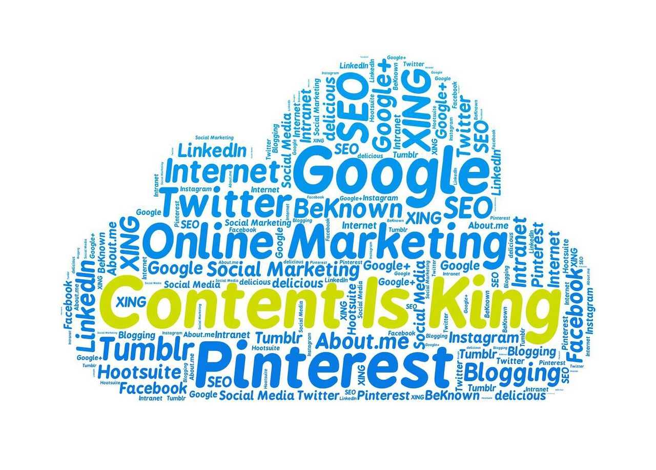 content is king online marketing google free photo