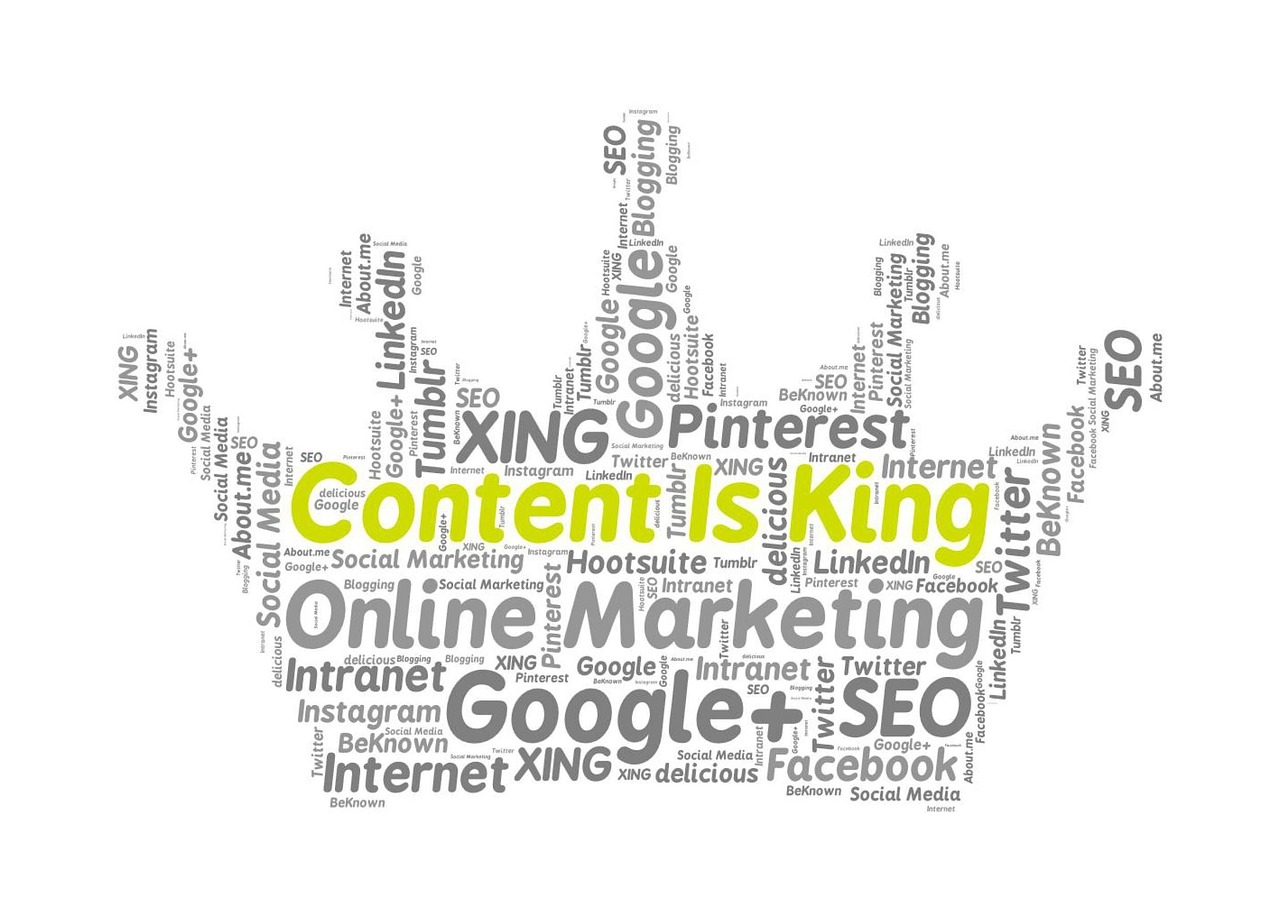 A picture showing some aspects of content and SEO writing