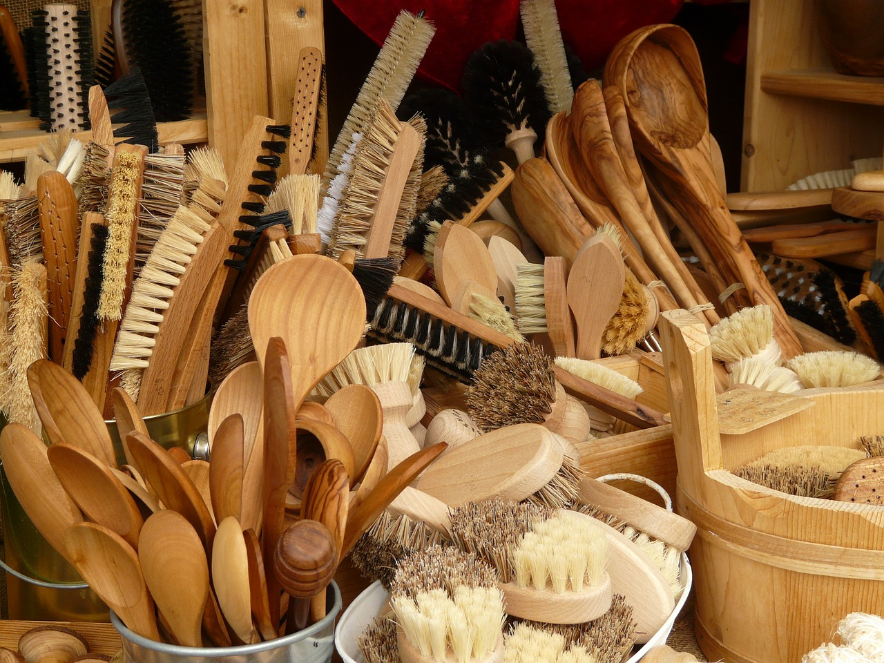 cooking spoon brushes articles of wood free photo