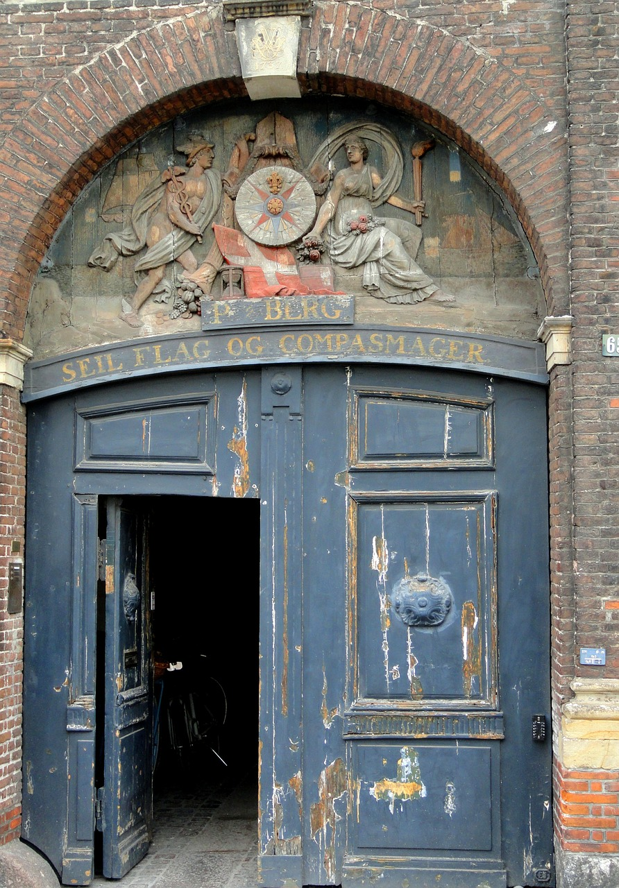 copenhagen denmark door free photo