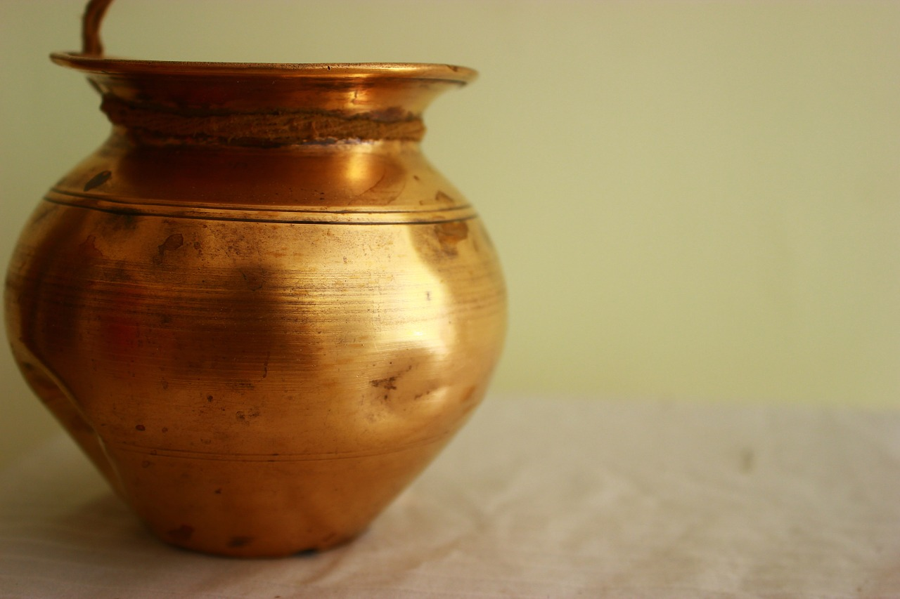 copper pot vessel free photo