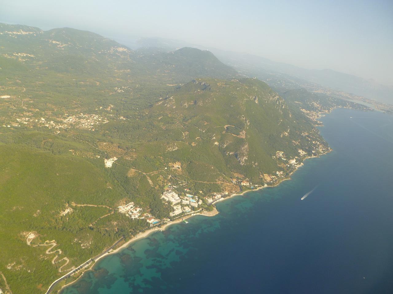 Ora In Sala.Corfu Oras Is Oro Aerofoto Sala Nemokamos Nuotraukos
