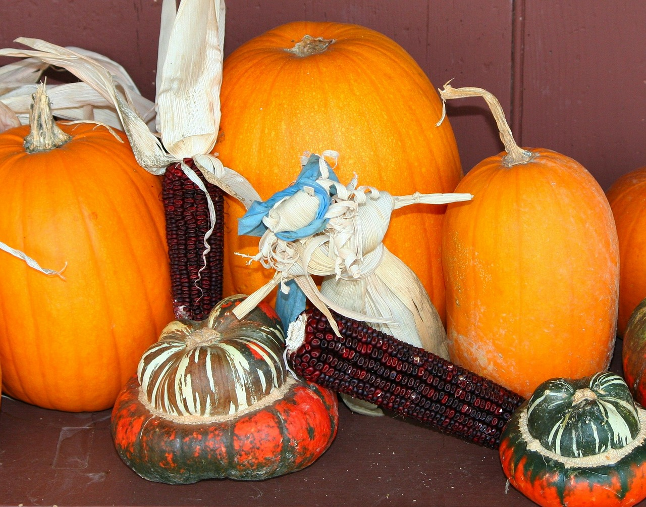 corn husk doll pumpkins gourds free photo