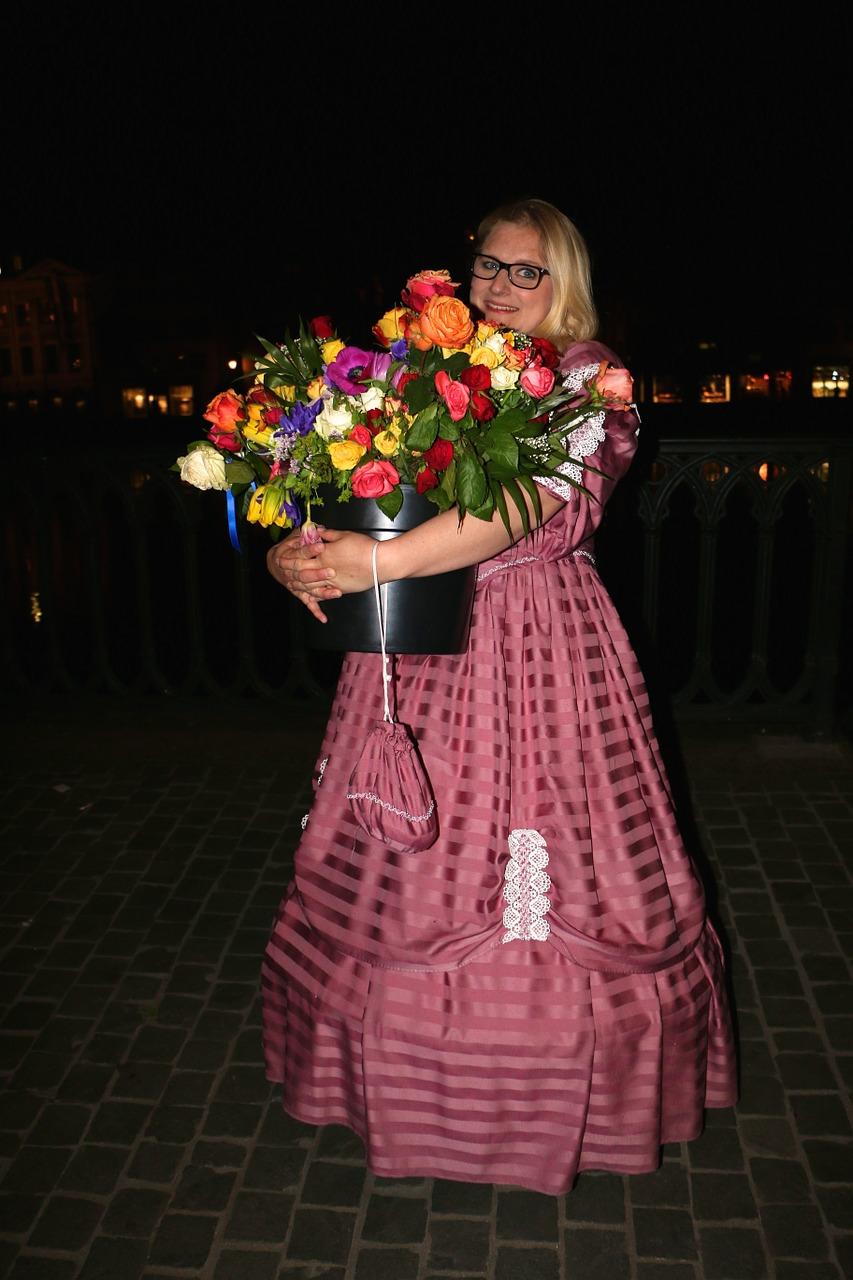 Costumebouquet of flowerscelebrationeveningsmile free photo costume bouquet of flowers celebration izmirmasajfo