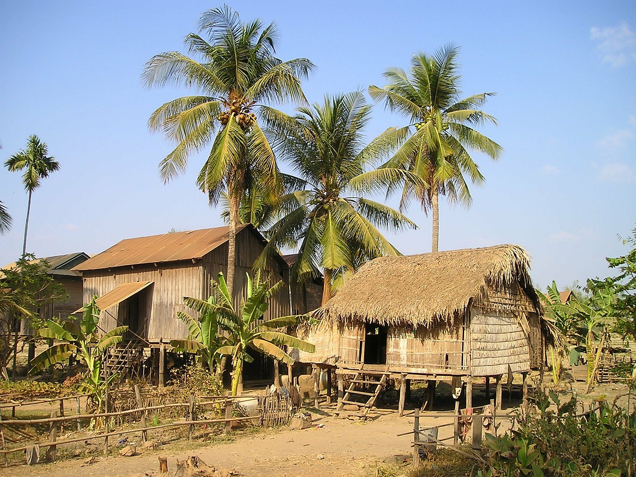 cottages cambodia land free photo