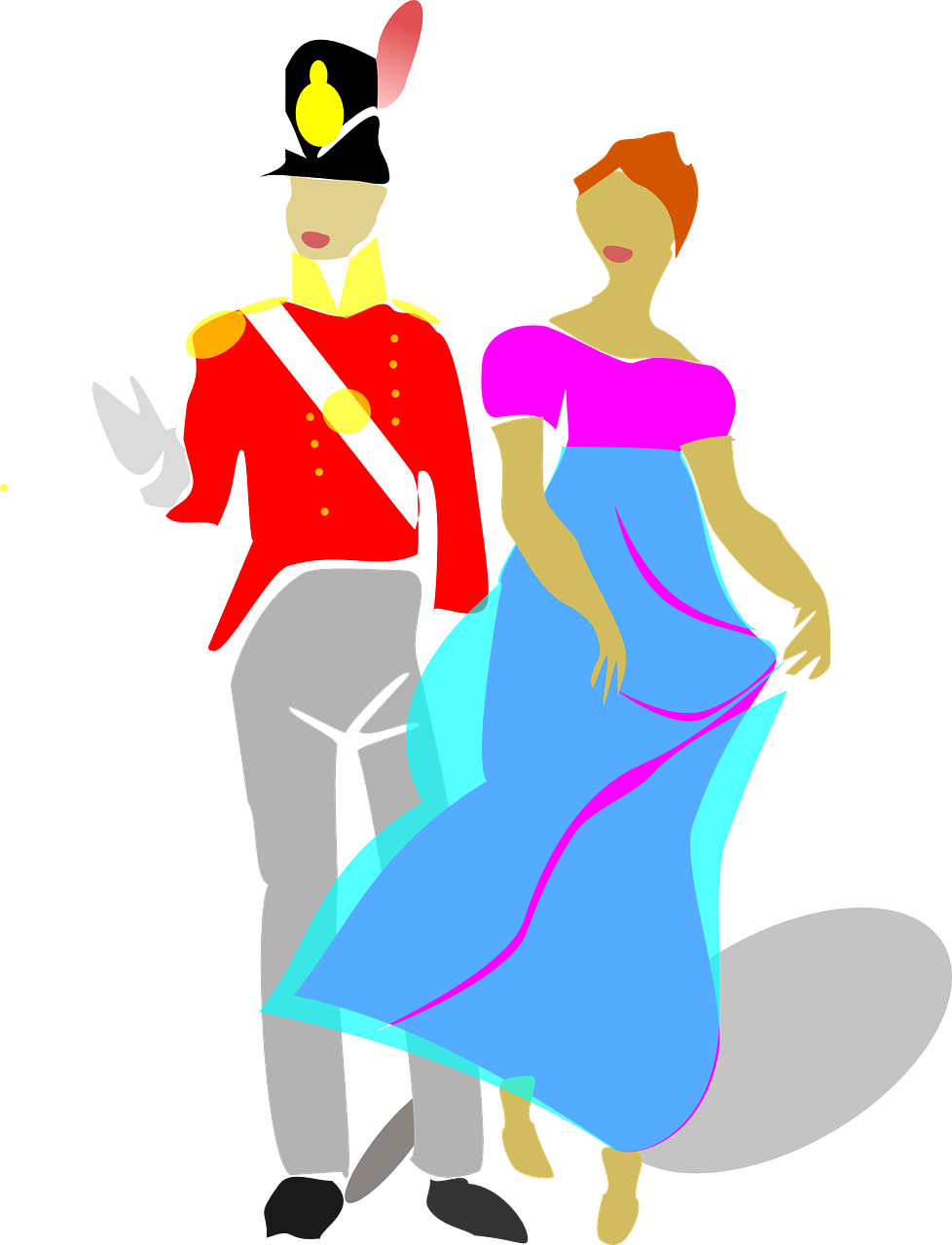 couple,man,woman,costume,drama,dress,gown,history,period,regency,stage,theatre,tights,historic,free vector graphics,free pictures, free photos, free images, royalty free, free illustrations, public domain