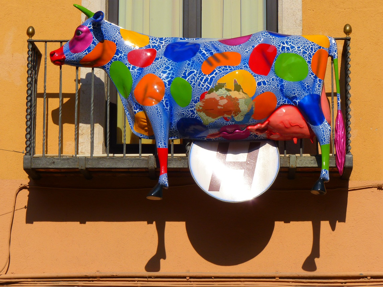 cow colorful art free photo
