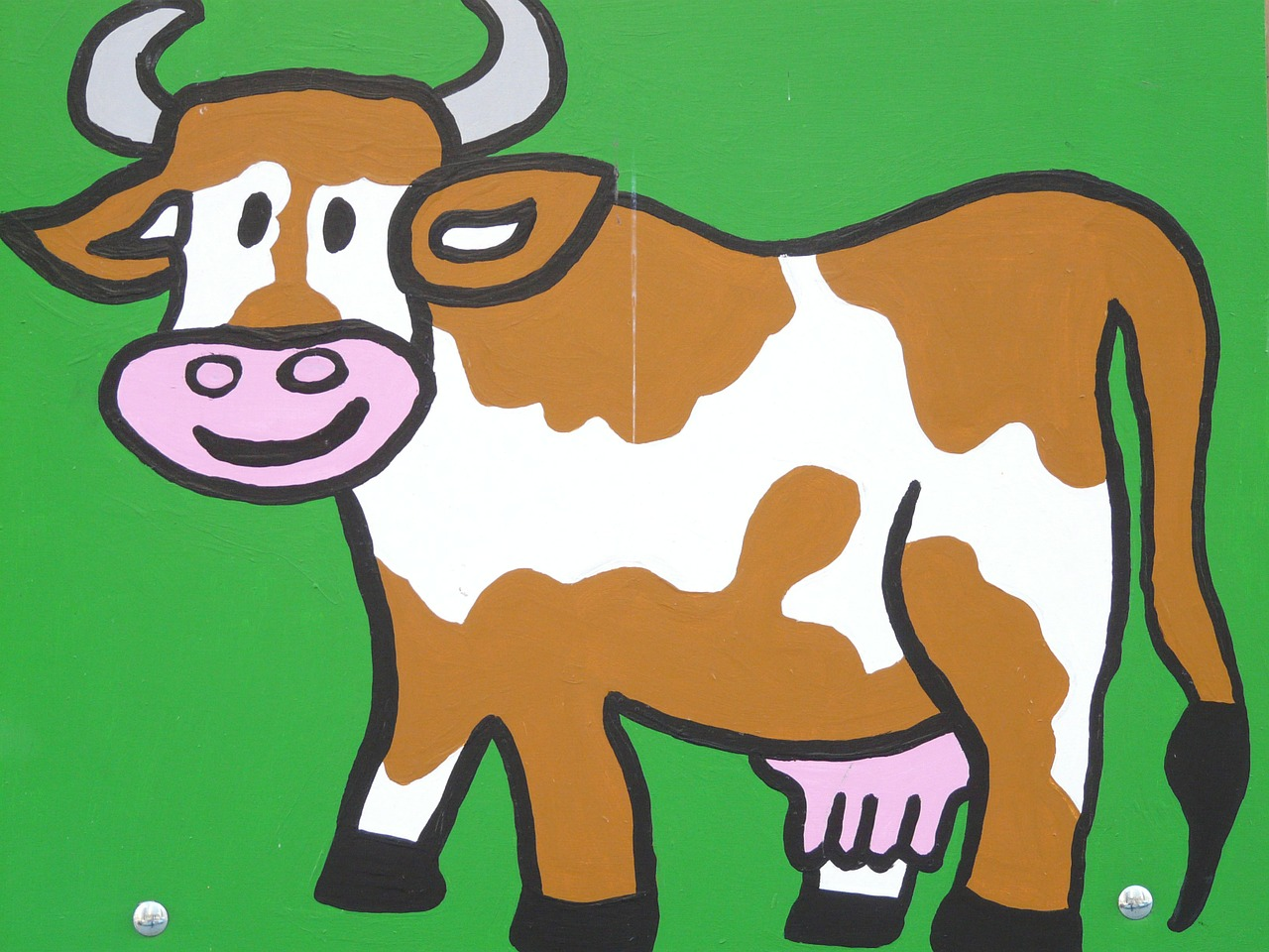 cow cartoon character drawing free photo