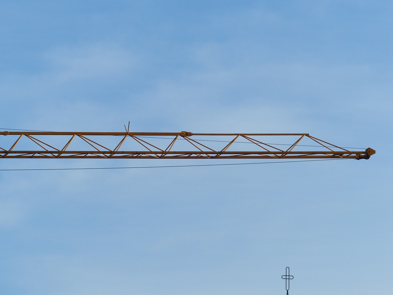 crane baukran site free photo