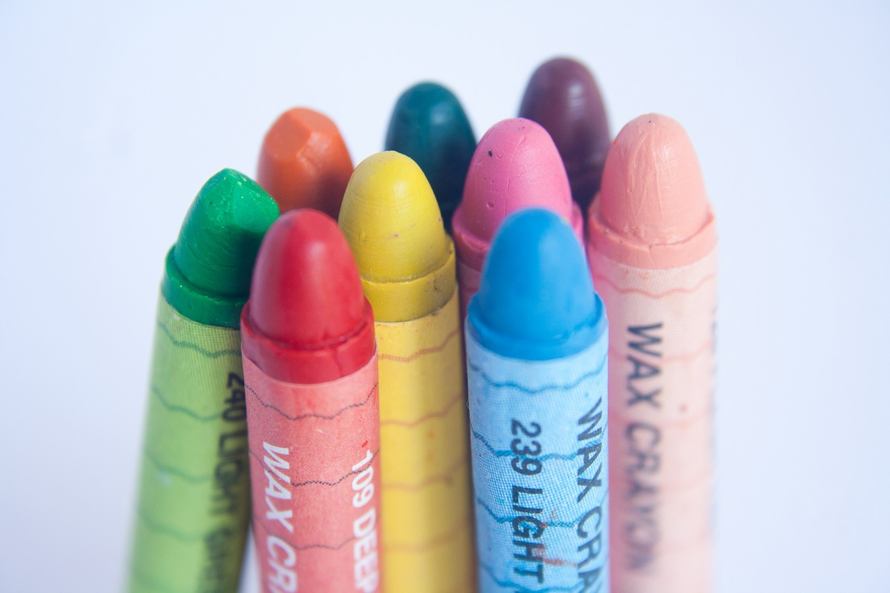 crayons spectrum colors free picture