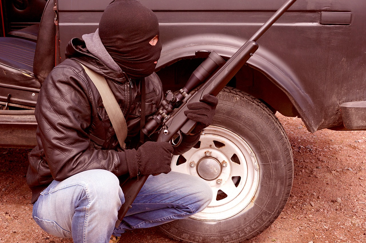criminal terrorist rifle free photo