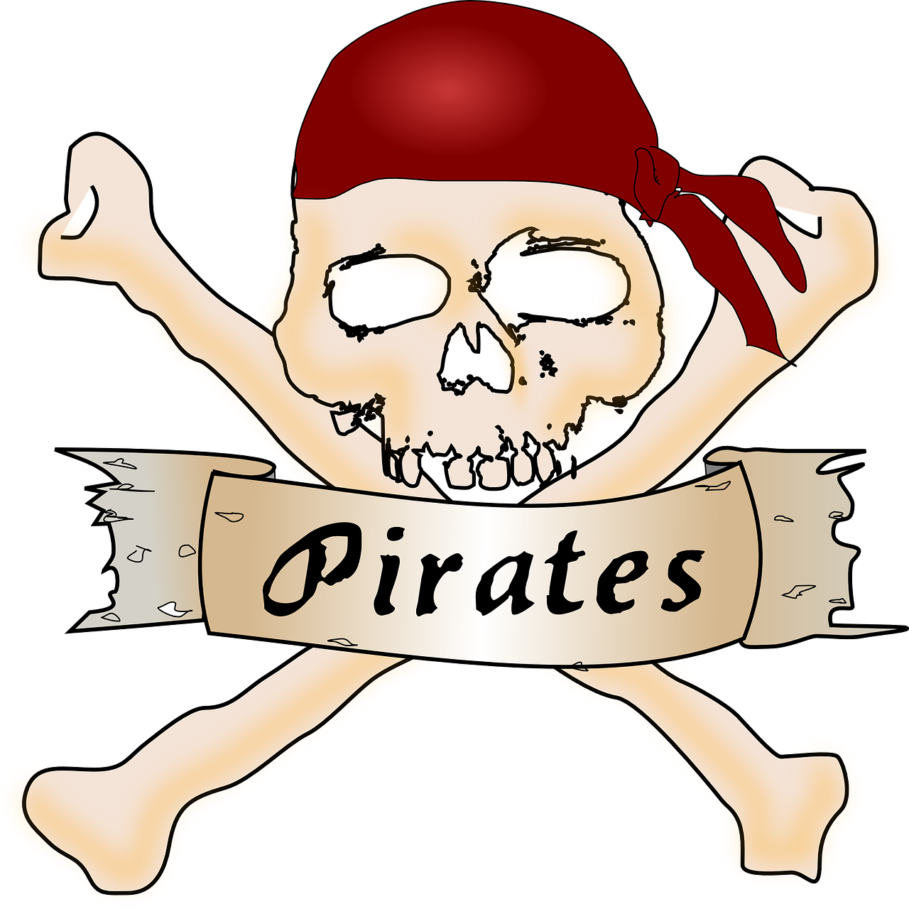 crossbones skull pirates free photo