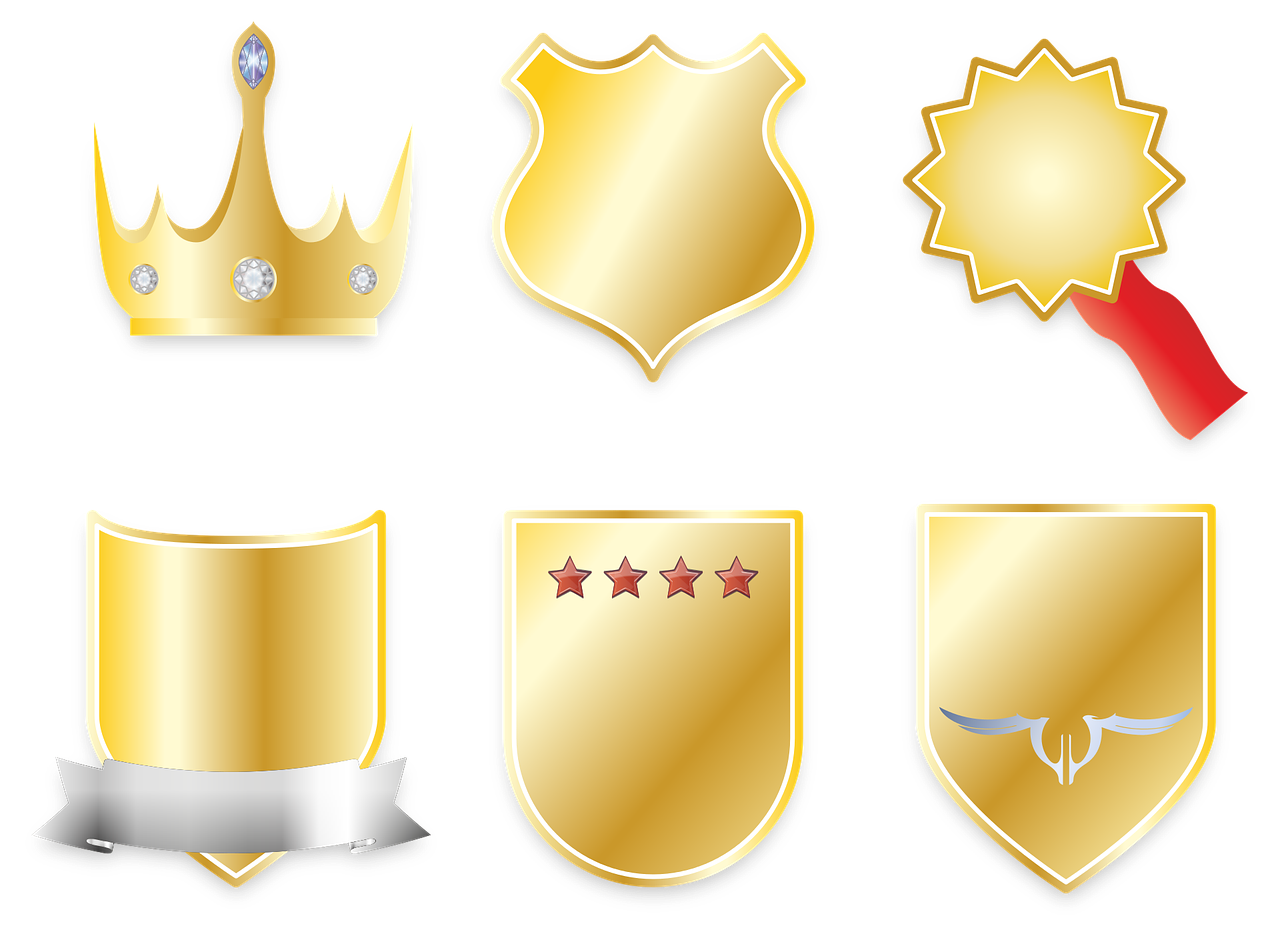 crown coat of arms banner free photo
