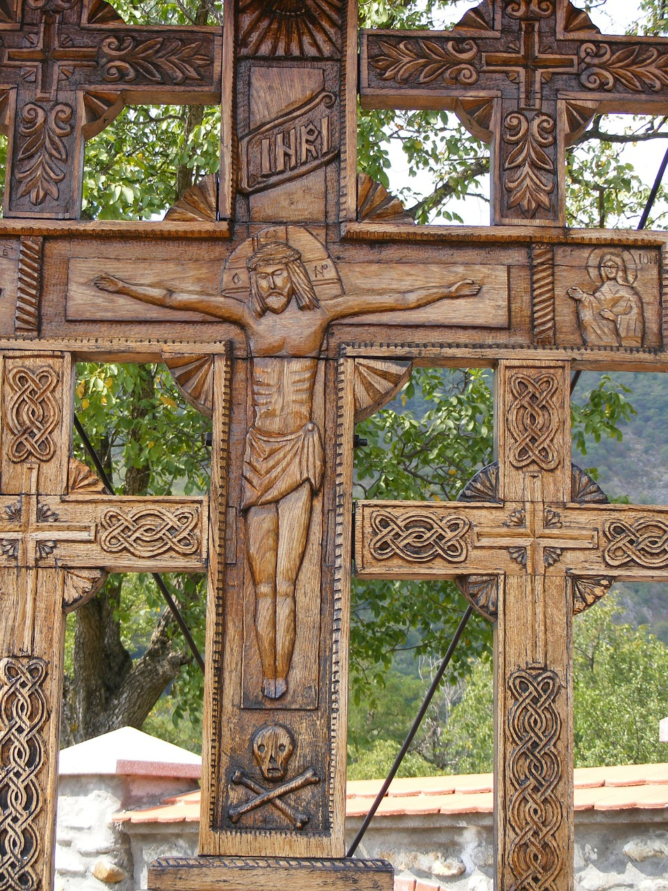 crucifix monastery religion free photo