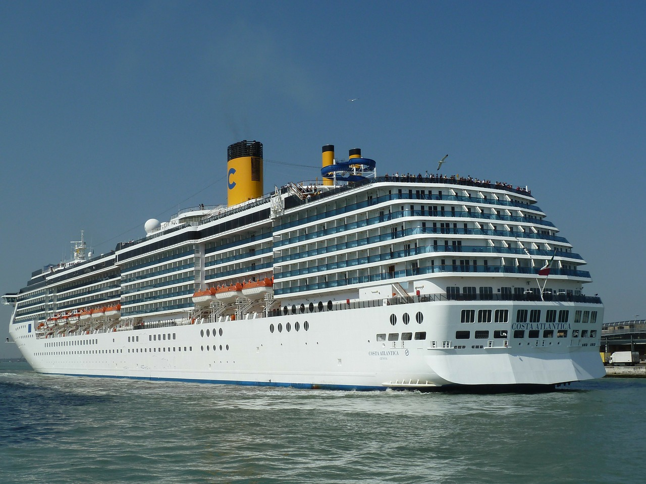 cruise ship mediterranean sea free photo