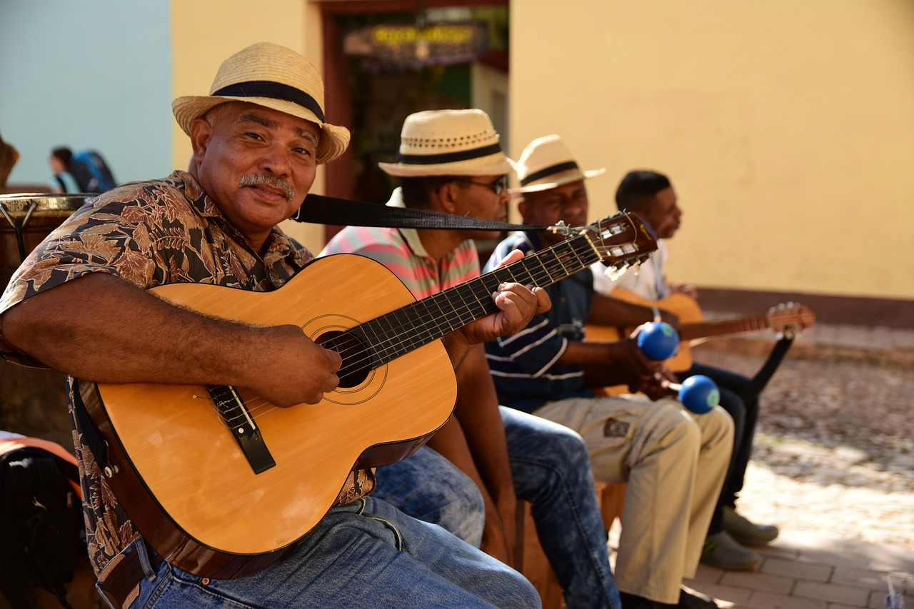 cuban street band free photo