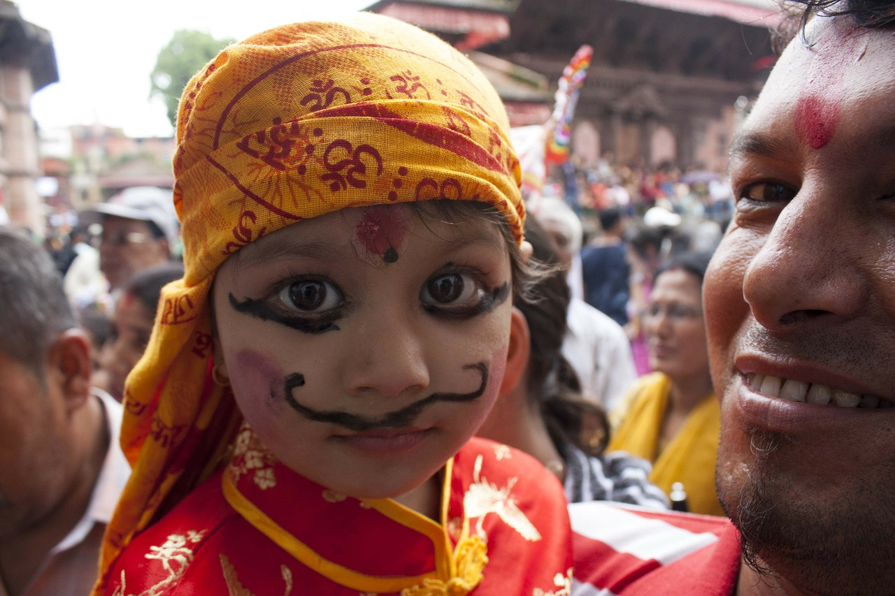 culture festival gai jatra free photo