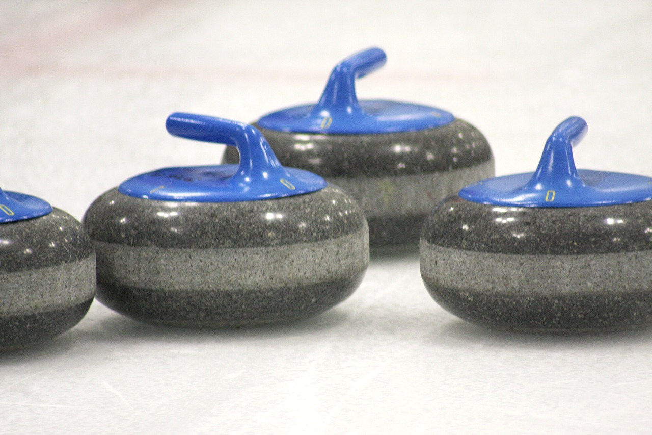 curling curling stone ice free photo