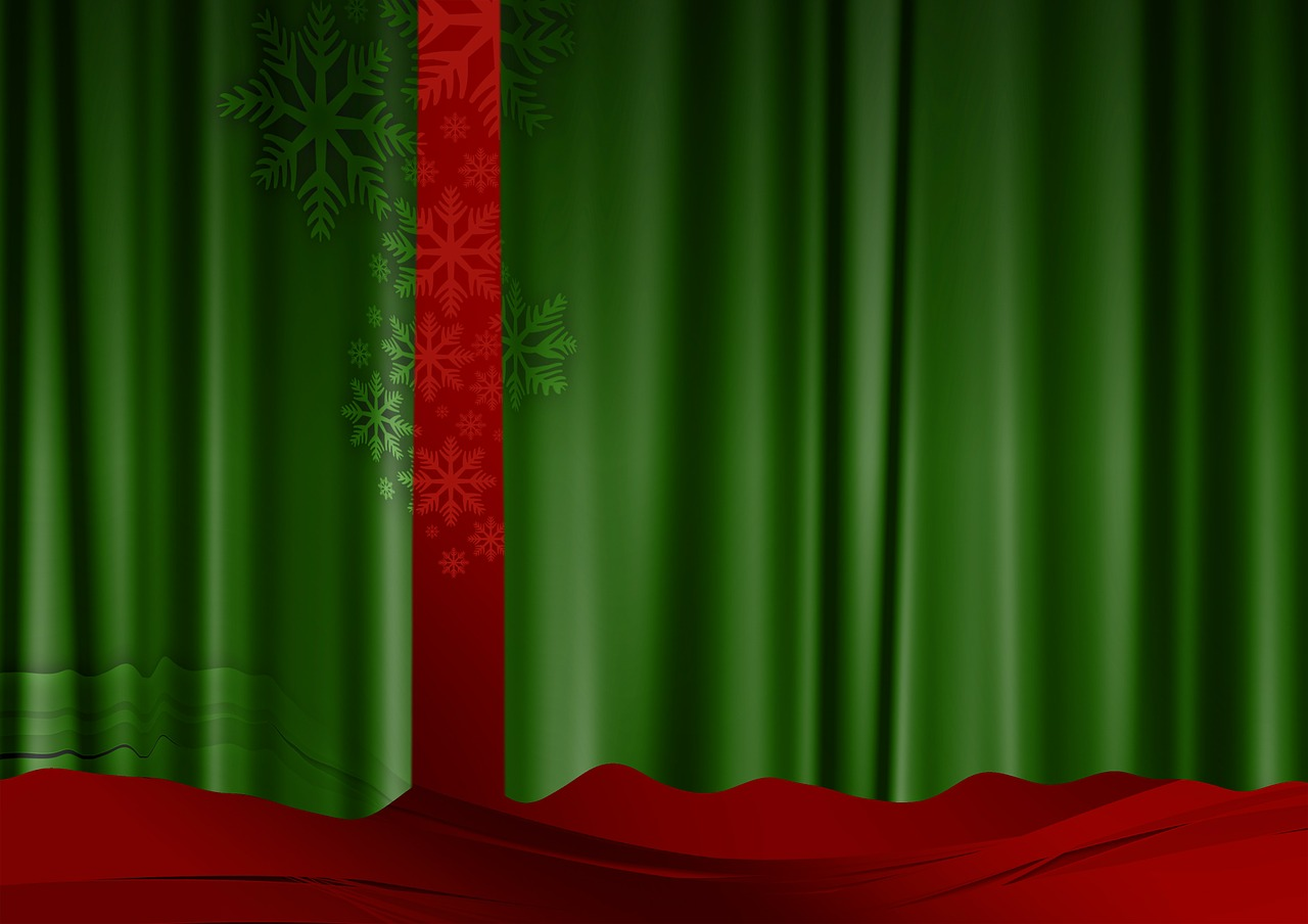curtain green red free photo