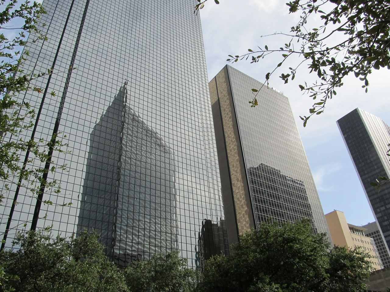 dallas skyscraper office buildings free photo