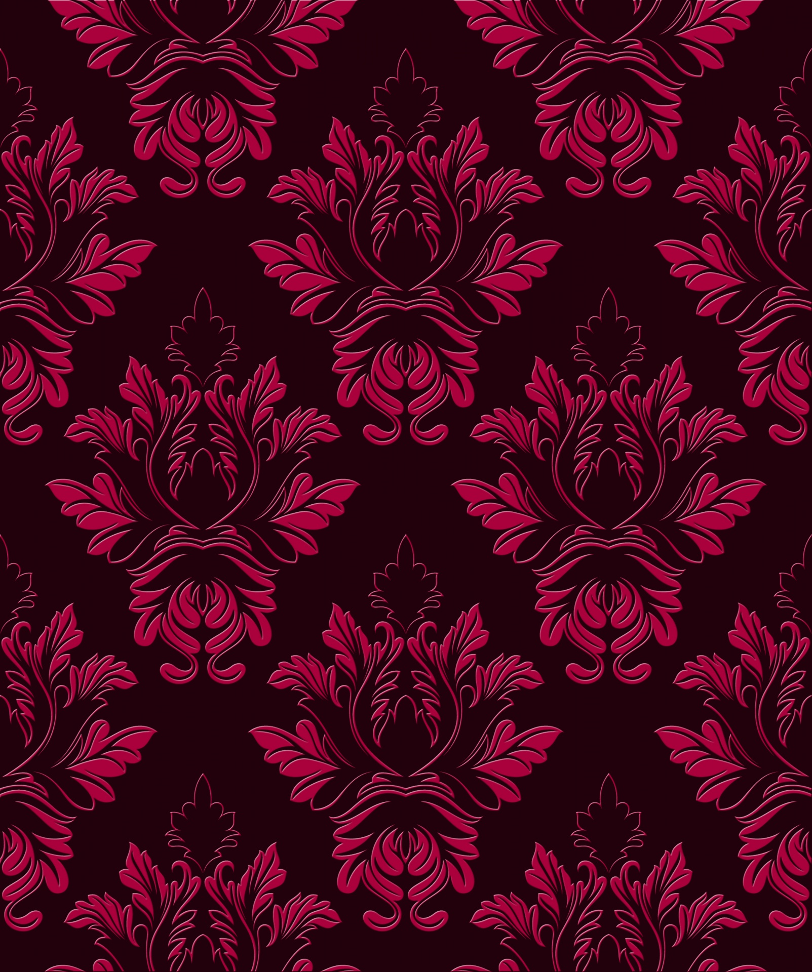 Damask Pattern Wallpaper Paper Background Free Image From