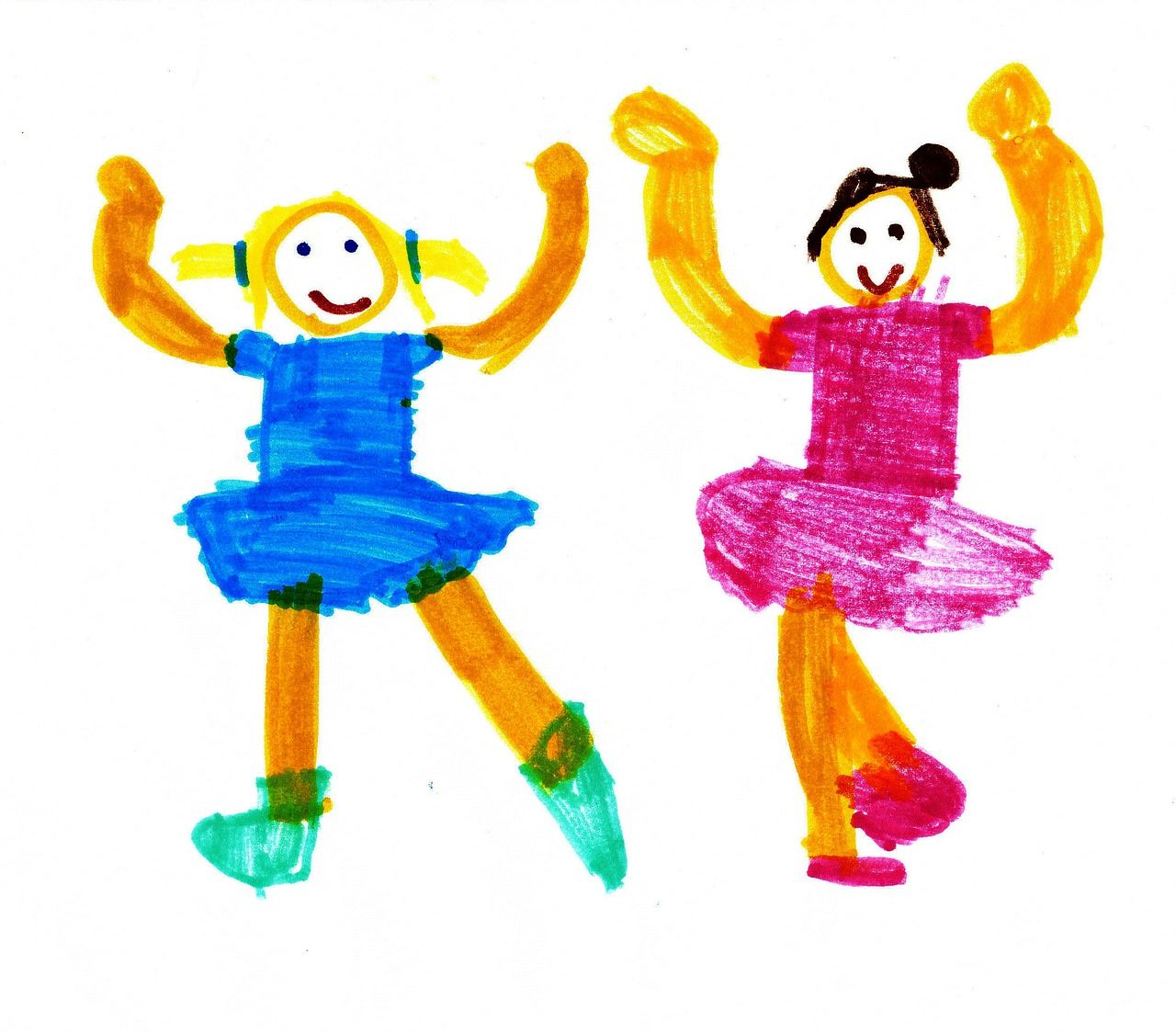 dance children's drawings ballet free photo