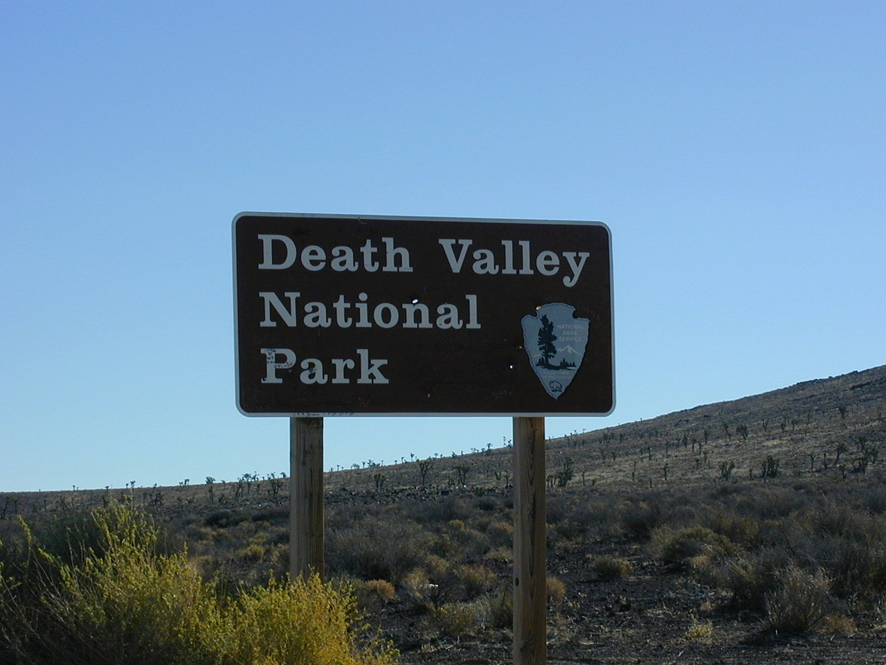 death valley national park shield free photo
