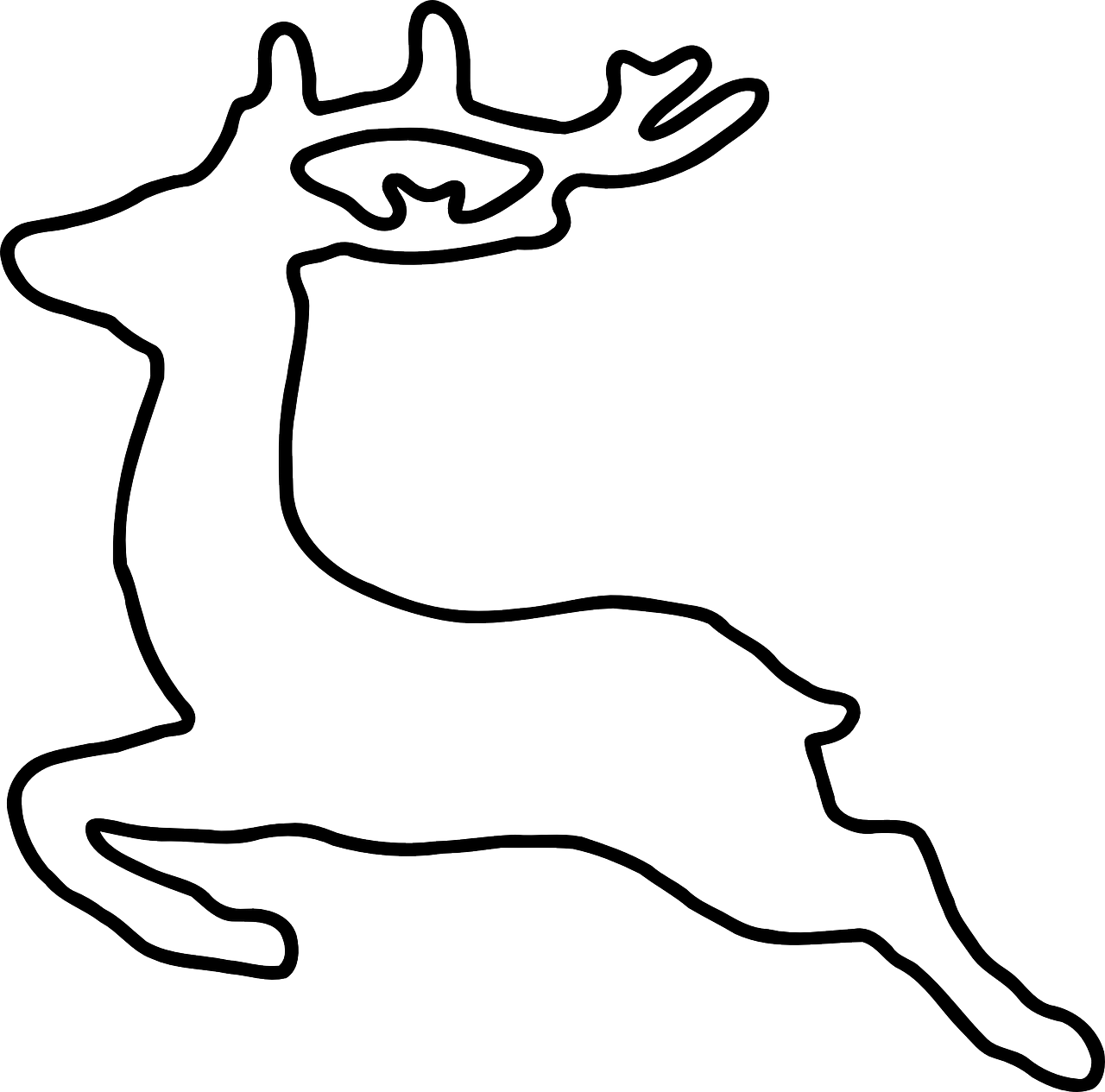 deer jumping animal free photo