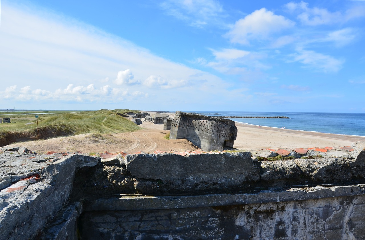 denmark bunker atlantic wall free picture