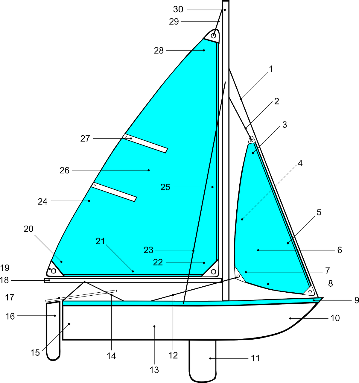 diagram sailboat sailing free photo