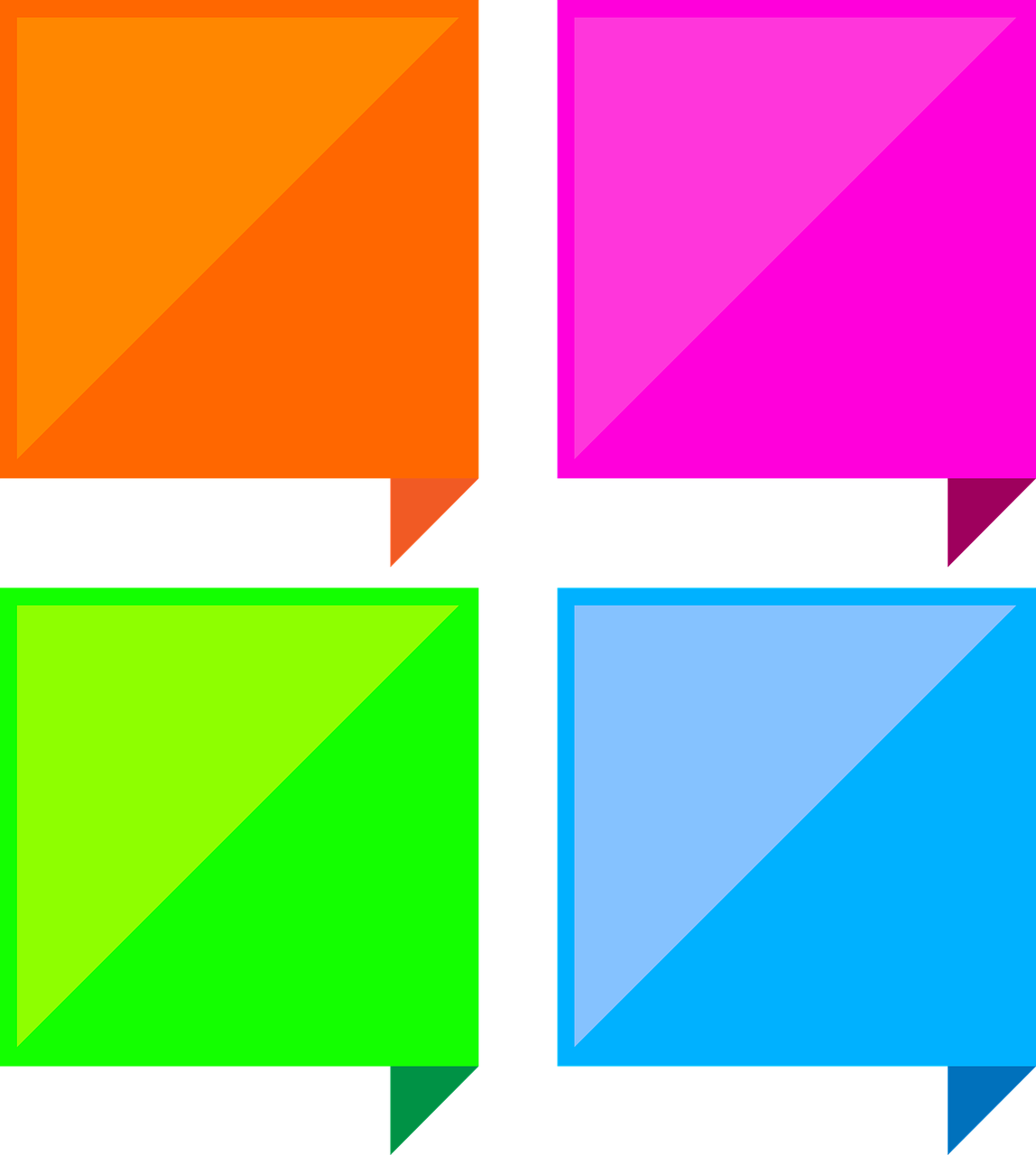 dialog boxes colorful square free photo