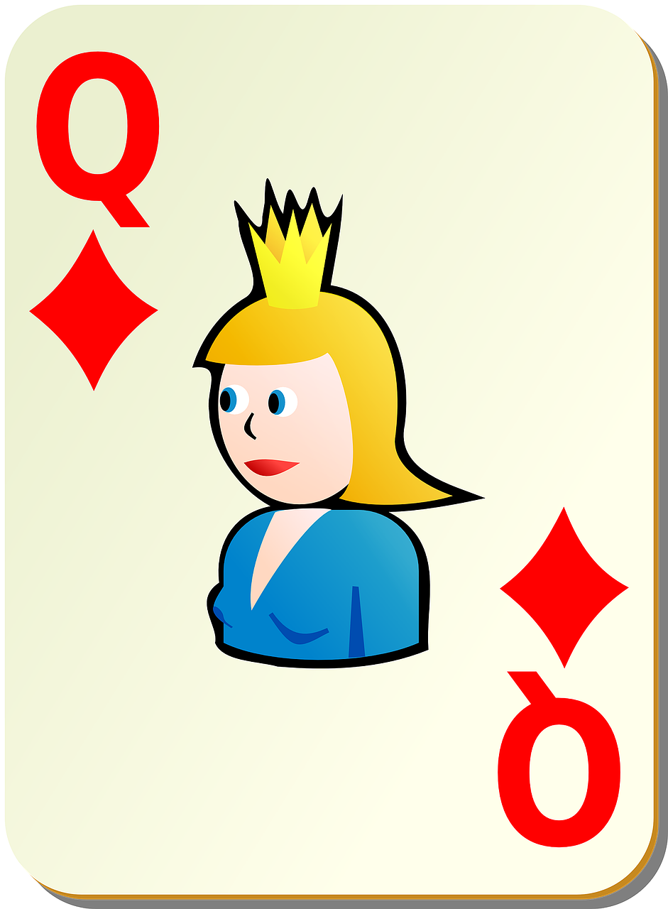 diamonds queen playing cards free photo