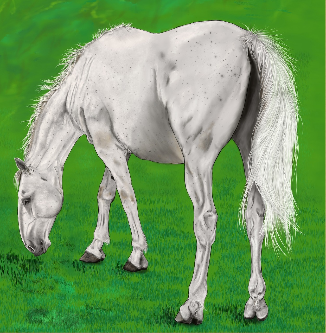 digital artwork painting horse free photo