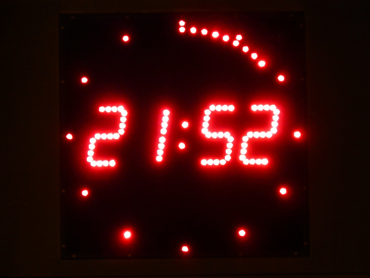 digital clock clock digital free photo
