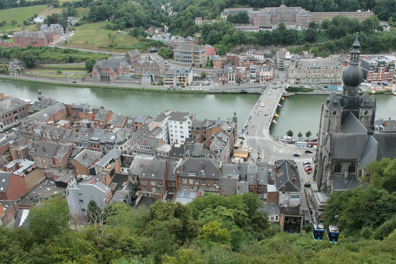 dinant city belgium free photo