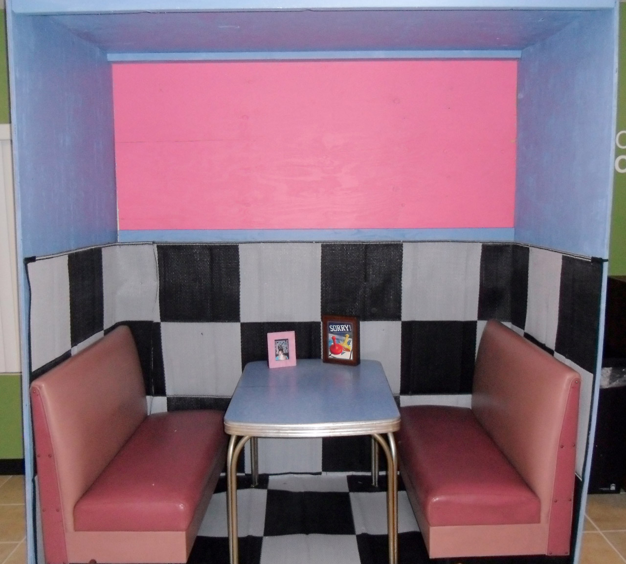 Download Free Photo Of 50 S 60 S Diner Booth Pink From Needpix Com
