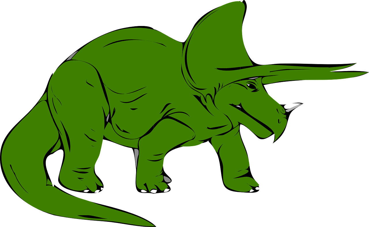 dinosaur,green,triceratops,extinct,animal,prehistoric,wild,walking,horns,tail,free vector graphics,free pictures, free photos, free images, royalty free, free illustrations, public domain