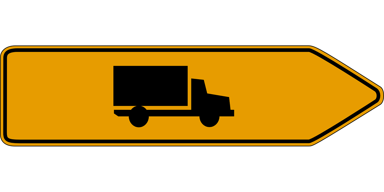 direction trucks road sign free photo