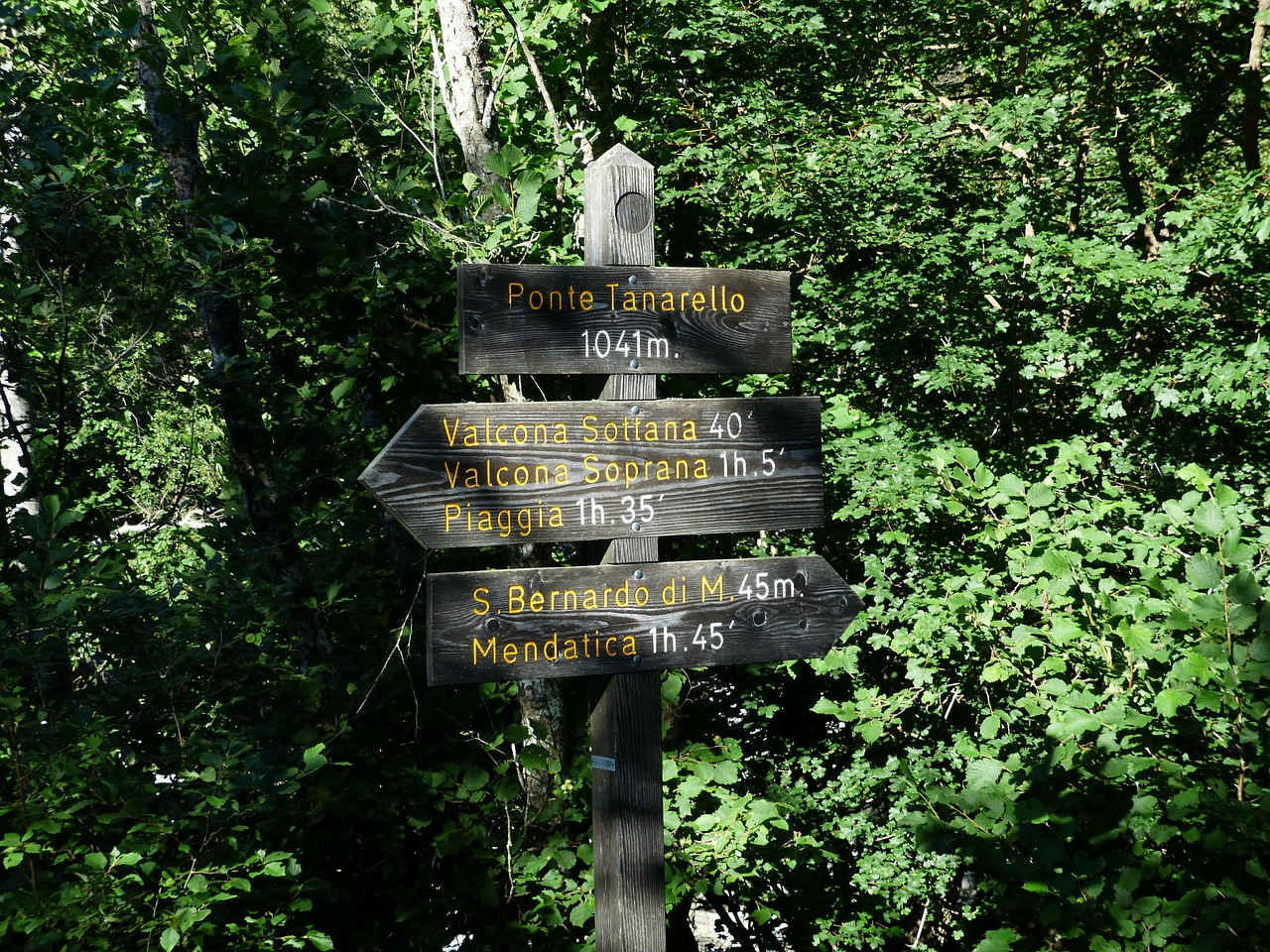directory signposts hiking trails free photo