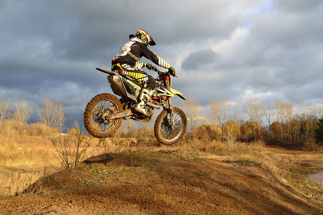 dirt bike motorcycle jump free photo
