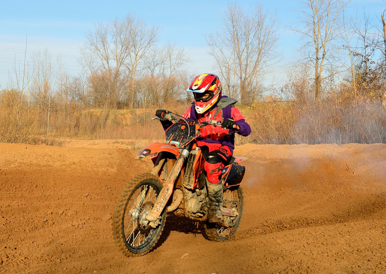 dirt bike motorbike biker free photo