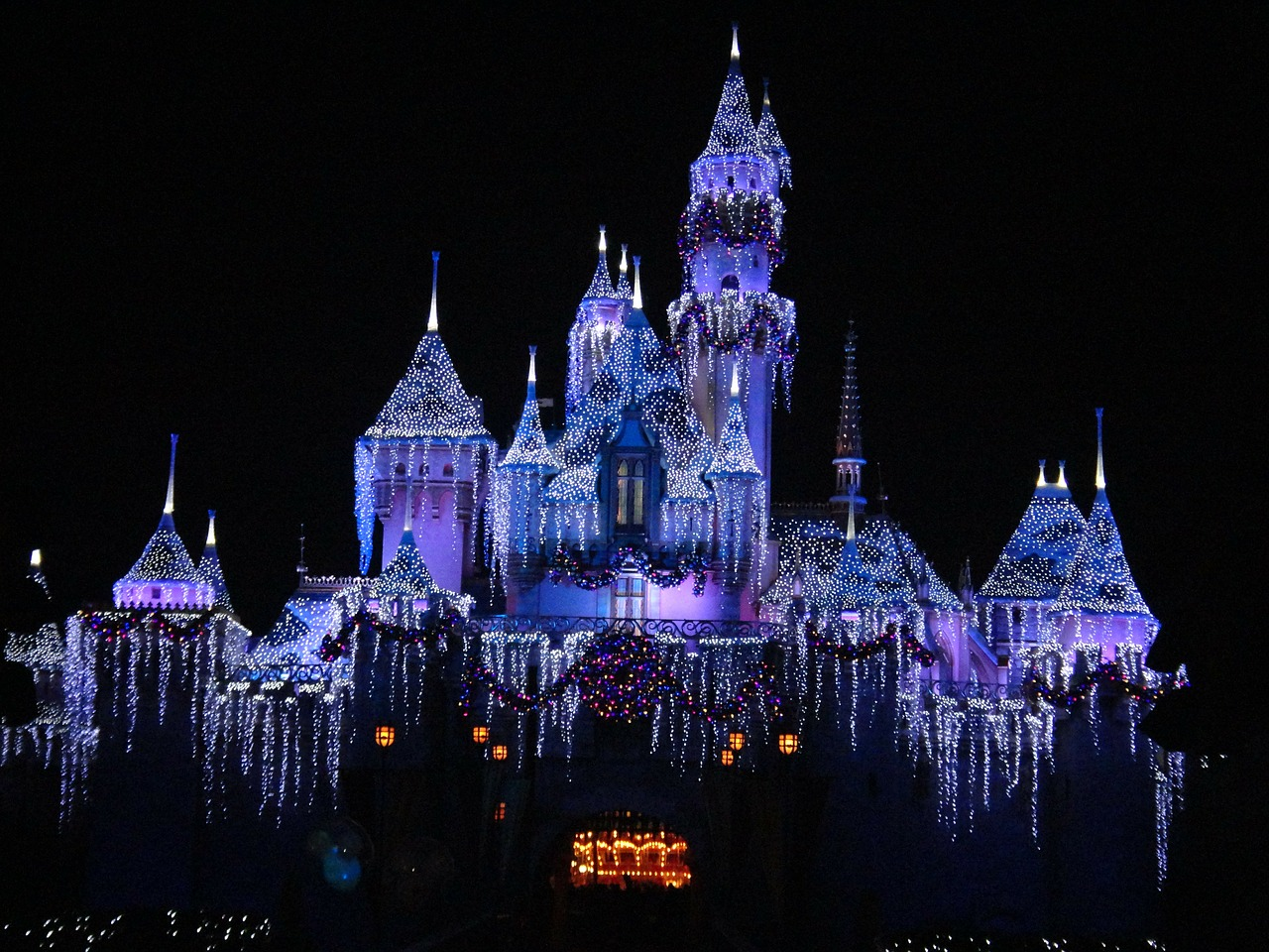 disneyland december california free photo