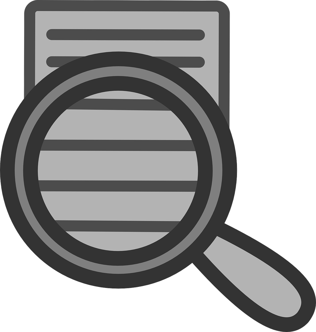document search icon free photo