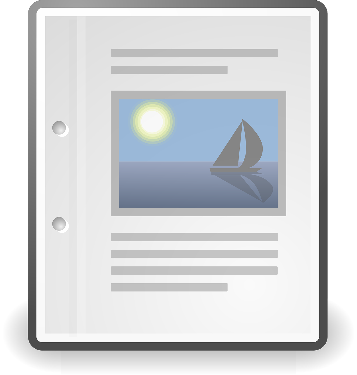 document text icon free photo
