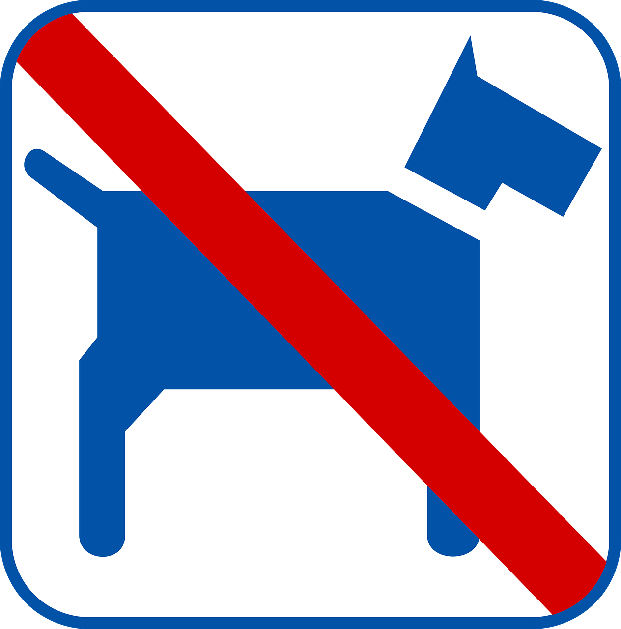 dog sign no pets free photo