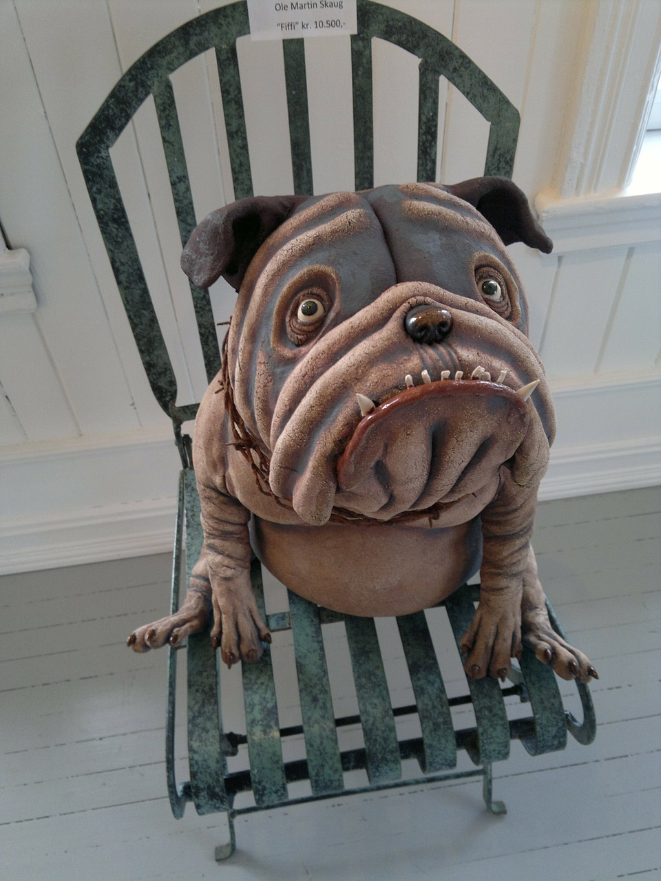 dog chair pottery free photo