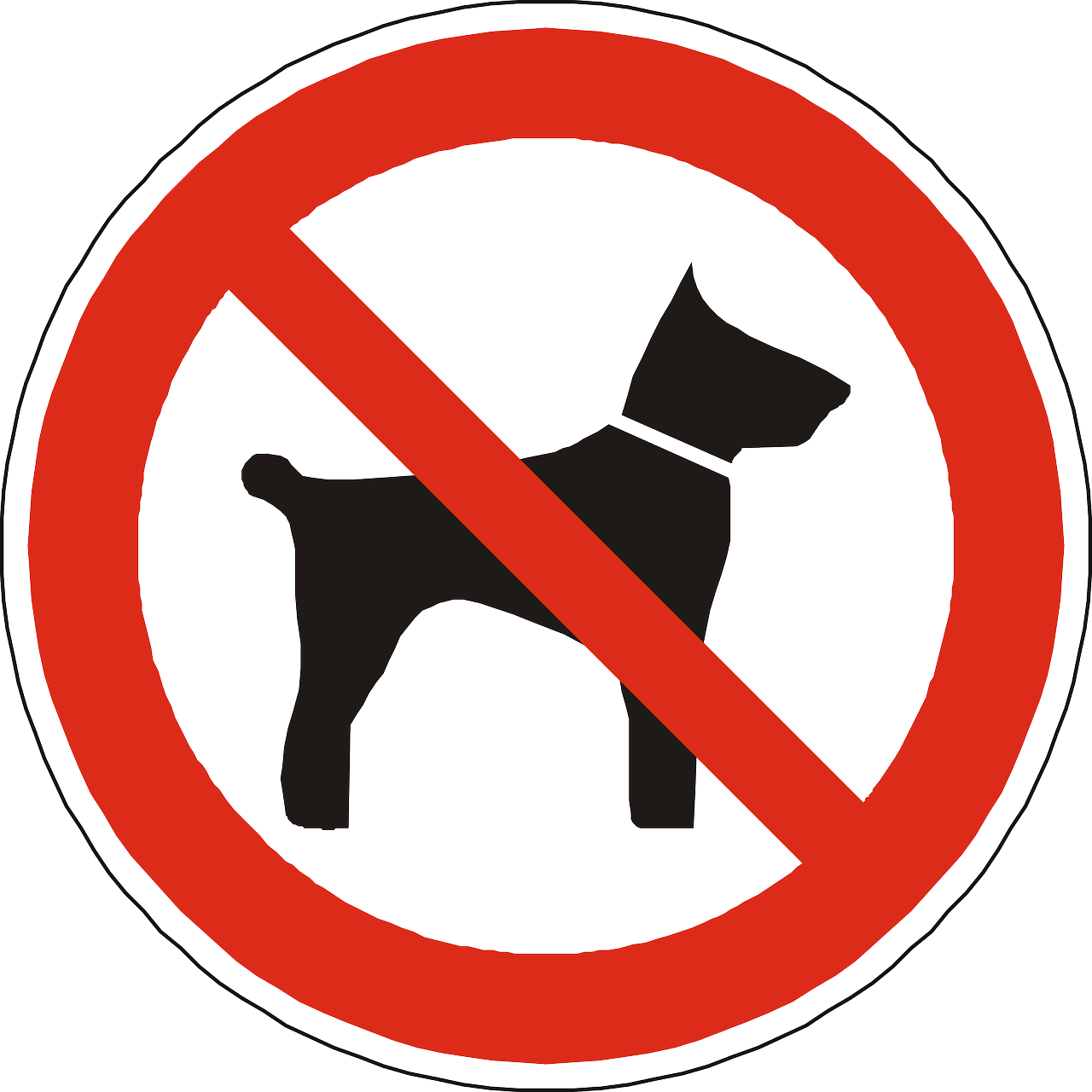 dogs prohibited forbidden free photo