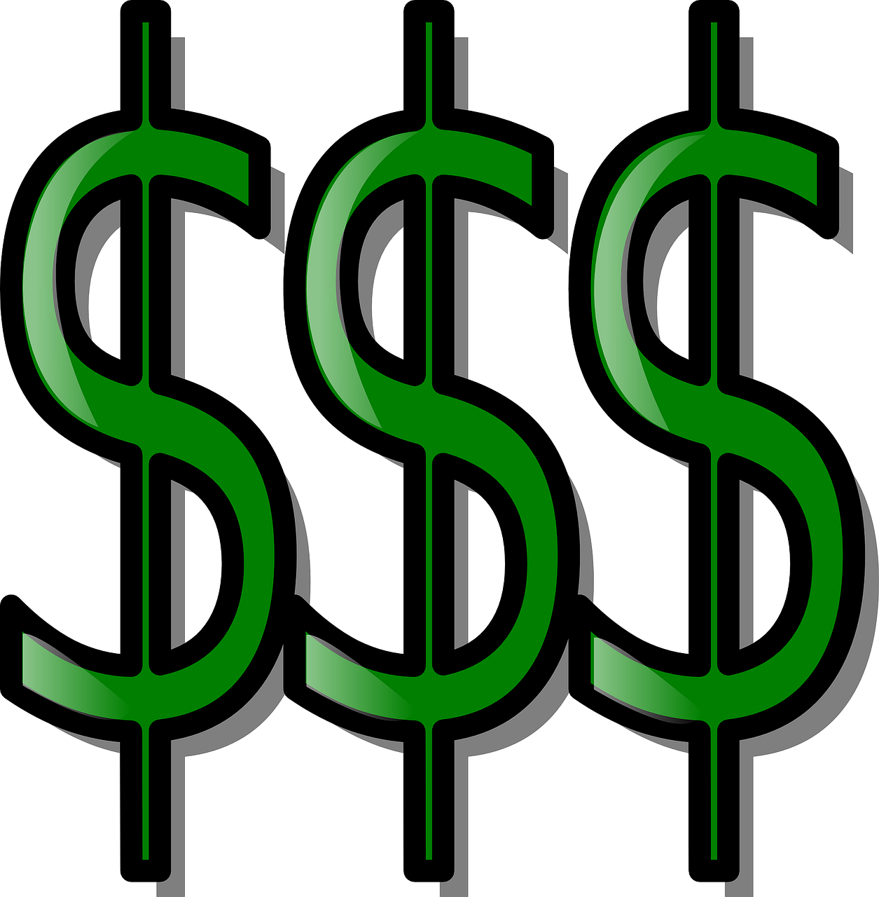 dollar triple currency free photo